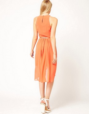 Image 2 ofOasis Exclusive To ASOS Dipped Hem Dress