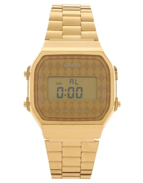 Image 2 ofCasio A168WG-9BWEF Digital Quartz Gold Watch Exclusive to ASOS