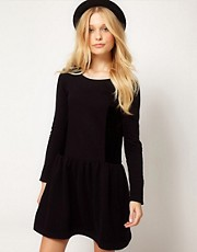 b + ab Velvet Mix Dress