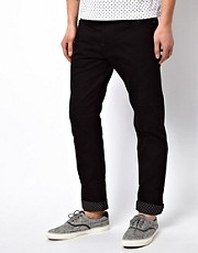 Black Chocoolate Trouser With Contrast Turn Up