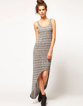 Image 1 ofRiver Island Space Dye Dipped Hem Dress