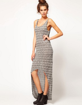 Image 4 ofRiver Island Space Dye Dipped Hem Dress