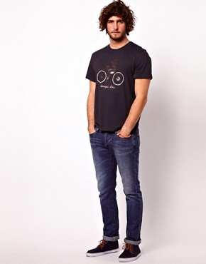 Image 4 ofPaul Smith Jeans T-Shirt with Bicycle Print