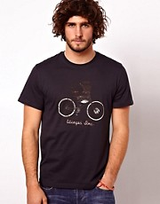 Paul Smith Jeans T-Shirt with Bicycle Print