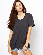 American Apparel - T-shirt con tasca grande
