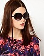 Image 3 ofMango Oversized Round Frame Sunglasses