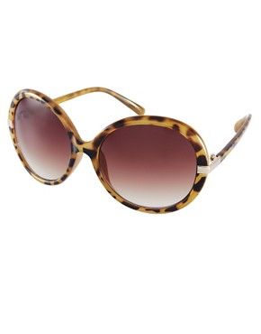 Image 1 ofMango Oversized Round Frame Sunglasses