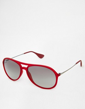 Ray Ban Ray-Ban Alex Aviator Sunglasses (Red)