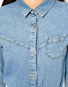Image 3 ofASOS Denim Shirt Dress in Vintage Wash