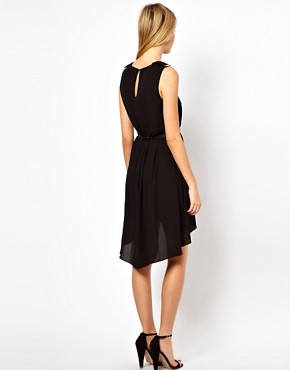 Image 2 ofOasis Metal Trim Dip Hem Dress