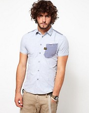 G Star Shirt Recruit Lawrence Short Sleeve Contrast Pocket