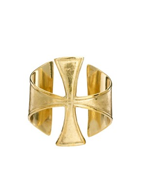 Image 4 of ASOS Gothic Cross Cuff Bracelet