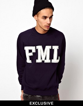 Image 1 ofReclaimed Vintage Sweat with FML Embroidery