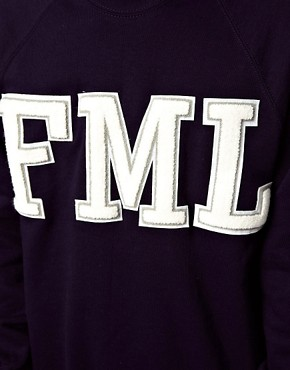 Image 3 ofReclaimed Vintage Sweat with FML Embroidery