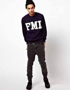 Image 4 ofReclaimed Vintage Sweat with FML Embroidery
