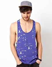 ASOS Tank With All Over Sailing Print
