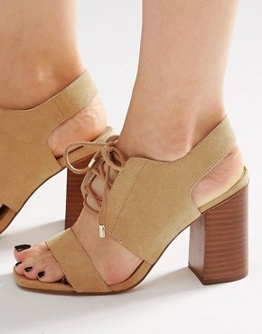 ASOS TRUE TIME Lace Up Heeled Sandals