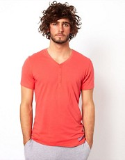 Calvin Klein V Neck Henley T-Shirt