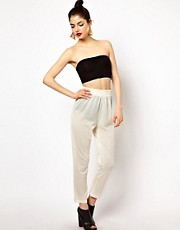 Aqua Dainty Jogging Trousers In Basket Mesh Jersey