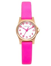 Marc By Marc Jacobs Mini Henry Pink Leather Strap Watch