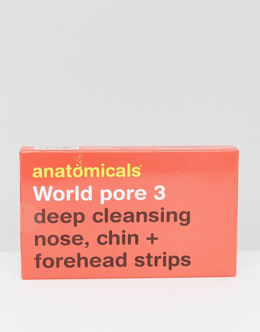 Anatomicals - world pore 3 - strisce pulizia profonda per naso, mento e fronte - world pore.