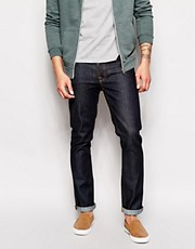 Nudie Jeans Grim Tim Slim Fit Dry Navy