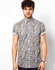 Liberty Print Shirt with Paisley Print