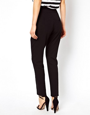 Image 2 ofASOS High Waist Trousers With Button Detail