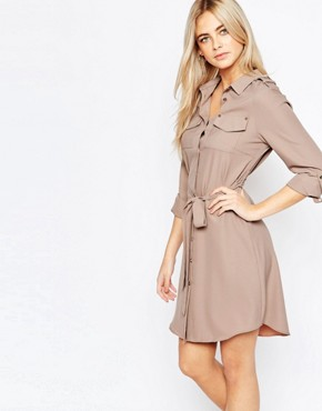 Fashion Union Belted Shirt Dress with Pockets