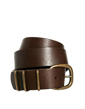 Image 1 ofPieces Fray Leather Jeans Belt