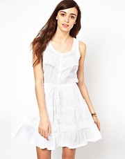 Warehouse Cotton Lace Dress