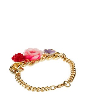Image 2 ofASOS Flower Charm ID Bracelet
