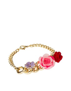 Image 1 ofASOS Flower Charm ID Bracelet