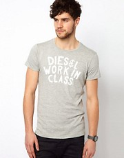 Camiseta con logo Sandy Work In Class de Diesel