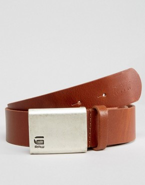 G-Star Barren Leather Belt In Tan