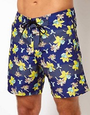 WESC Spring Floral Swim Short UK Exclusive