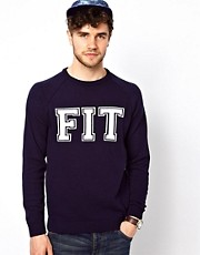 ASOS Slogan Fit Sweater