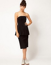 Antipodium Dead Right Dress With Peplum Detail