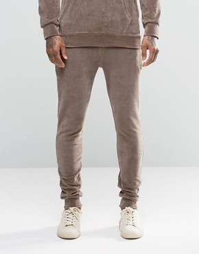 Criminal Damage Skinny Velour Joggers