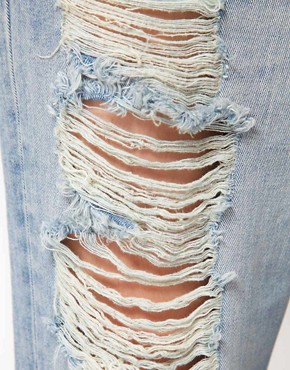 Image 3 ofASOS Boyfriend Jeans with Ripped Detail
