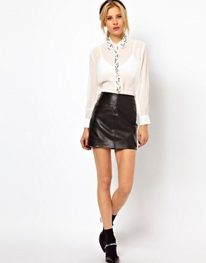 Image 4 ofASOS PETITE Exclusive Shirt With Embellished Collar And Placket