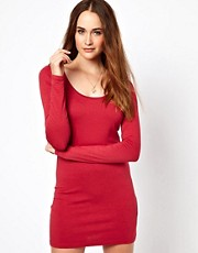 Vila Body Con Dress With Long Sleeve