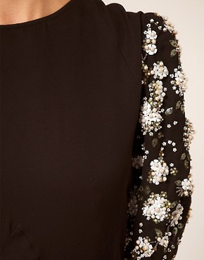 Image 3 ofASOS Midi Dress with Embellished Sleeves