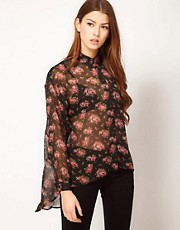 Max C Floral Chiffon Shirt