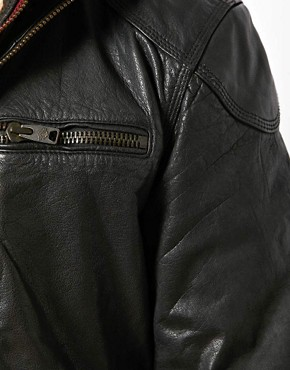 Image 3 ofSuperdry Leather Jacket
