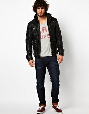 Image 4 ofSuperdry Leather Jacket