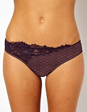 Calvin Klein Black Brief With Lace