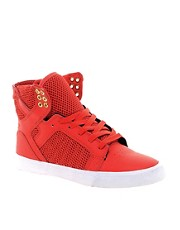 Supra Skytop Red High Top Trainers