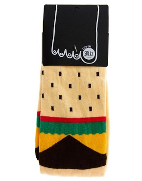 Image 3 ofLazy Oaf Burger Socks
