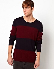 Suit Stripe Jumper in Merino Wool Mix